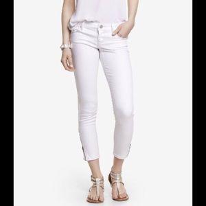 Express White Zipper Jeans